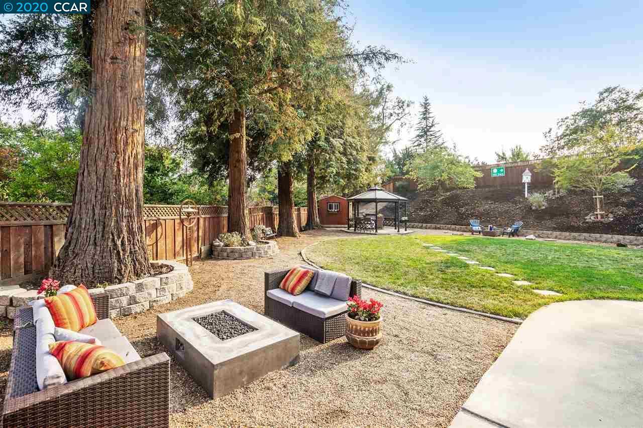 Beautiful tree lined backyard!