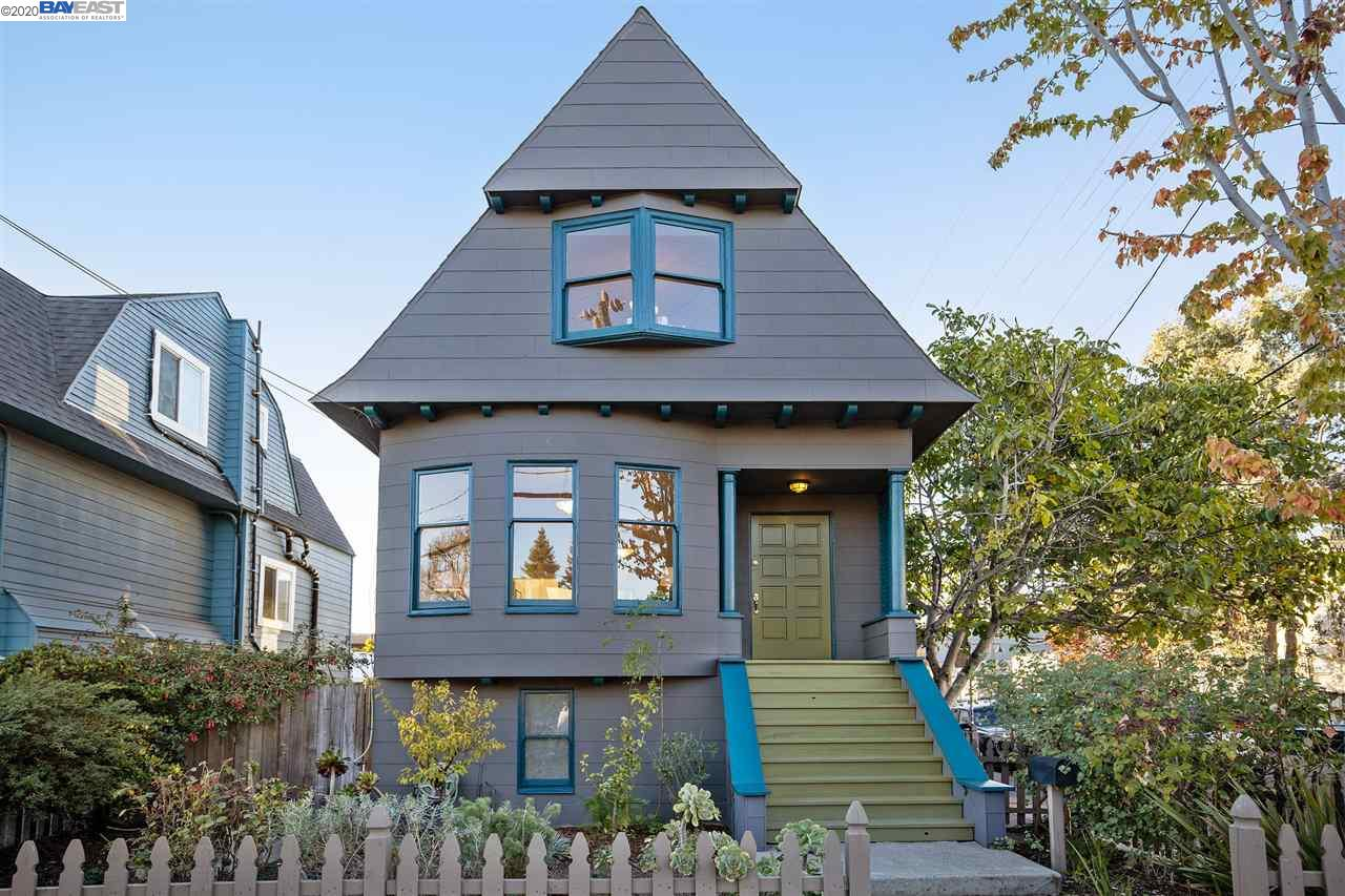 Enjoy the Temescal Lifestyle! This charming 3+BR/1.5 BTH Pitch Gable Colonial Revival on a sunny corner lot is across the street from Temescal Alley. Fresh, crisp, painted inside and out, newly refinished wood floors and more, this home maintains its 1906 vintage charm. Private entry, formal living room with bay window & lovely dining room with nook for a workstation. The kitchen is truly inviting with large windows & spacious eating area with newly installed hardwood floors - a favorite gathering place. Just off the kitchen is the convenient enclosed back porch and 1/2 bath. The upstairs has 3 BR & full bath with clawfoot tub. At ground level is the full-basement with an office, laundry area with washer, dryer & sink, spacious workshop area, 1-car attached garage (nice bonus in a popular area). Downstairs leads to the quiet & private backyard patio. Great, walkable neighborhood with lots of special restaurants, shops, & transit choices. Close to 580 and 24 freeway access.