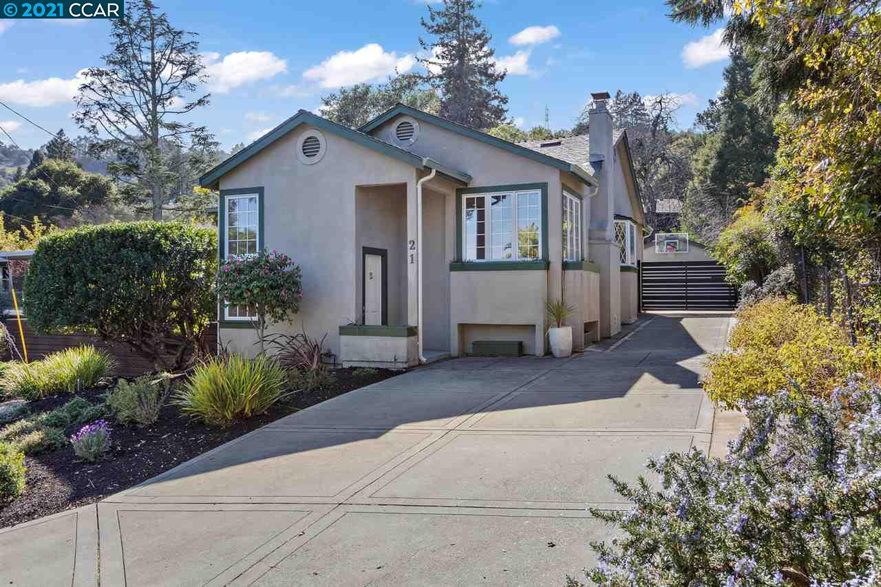 Fabulous setting on a quiet and level street.  The exterior has craftsman vibes while the interior has a traditional design and flow.  The chef of the home will appreciate the kitchen amenities.  Everything about this home is large and spacious.  The bedrooms are generous for each member of the family.  The primary bedroom is over sized for your own peace and quiet.  Off of the primary room is a large veranda with access to rear yard.  Downstairs is a gigantic family room/game room.  Potential to convert downstairs bedroom for separate entry guest suite if needed.  In addition to all the space you need, the private yard has two level lawn areas, open patio, mature landscape, kids play structure, AND a built in barbeque with seating.  Plenty of off street parking and automatic gate to detached garage.  Definitely workshop/art studio possibilities within the garage.  Walk/bike out your front door to local trails, Tilden, Grizzly Peak.  Of course, top rated Orinda schools!