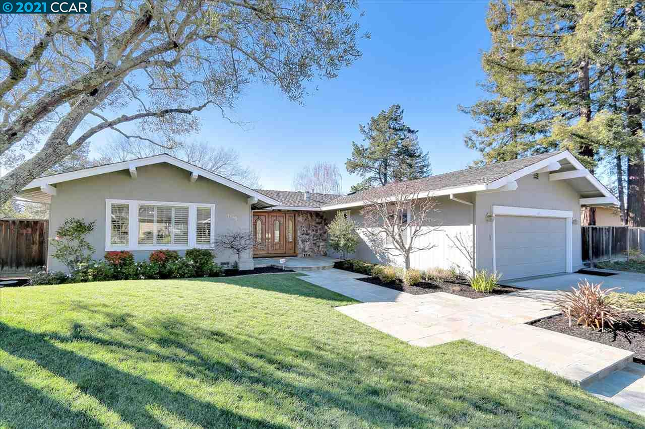 This lovely, light filled, single level home in the Bluffs neighborhood of Moraga is situated on a .36± acre flat lot with a beautiful and thoughtfully planned garden. The straightforward 2277± sqft floorplan features 4 generous sized bedrooms, 2.5 baths and spacious living areas. A gracious primary suite offers access to the private yard with views of the Moraga hills. Pride of ownership shines as the original owners have meticulously maintained the home with wonderful updates and enhancements throughout the years. The yard is something to behold featuring a manicured garden, the owner's passion, a multitude of blooming foliage, level lawn, expansive patios, raised garden beds and a large side yard.