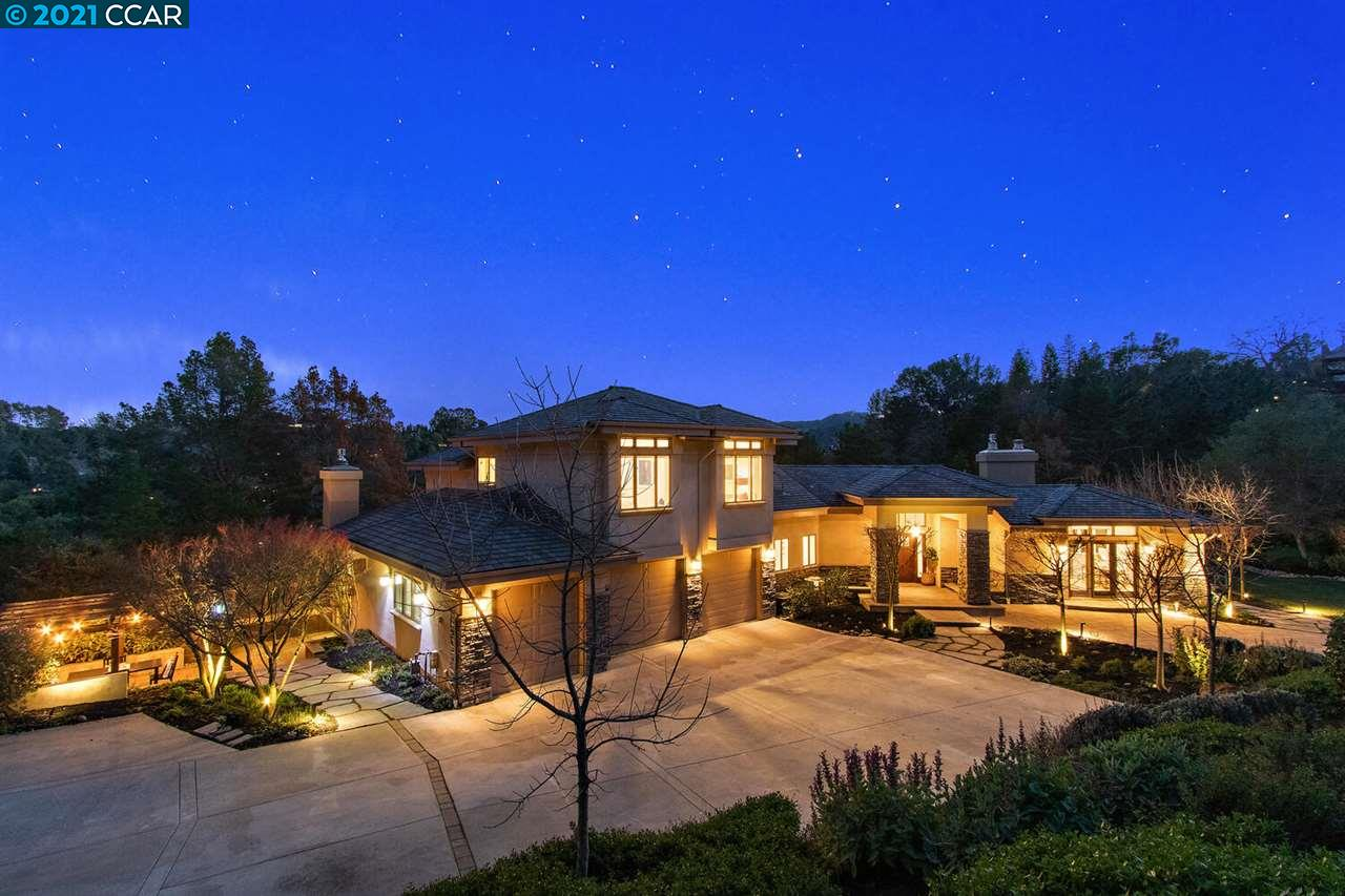 "Grand gated estate in the coveted Orindawoods neighborhood. 5+BR/ 5.5 BA, 5,775 sq. ft. on 4.86 acres. This super ""Smart house"" has an excellent floorplan with many fabulous indoor and outdoor spaces and views! Great for quarantining and entertaining! Spacious rooms with plenty of work from home and study from home areas. Delightful, bright open concept kitchen w/ window seat, two huge pantries, a fireplace and family room which open to a charming outdoor dining spot reminiscent of the wine country. Enjoy the cozy patio with modern gas firepit and built-in seating area, great for roasting marshmallows any night of the week. The large flat yard and two play structures offer plenty of stay-at-home entertainment for the kids.  This ""teched-out"" home is equipped with technology that allows you to easily control the security system, lights, locks and watering system from your phone. Orindawoods HOA amenities include tennis, pool and BART shuttle! Top Orinda schools & top commute location!"