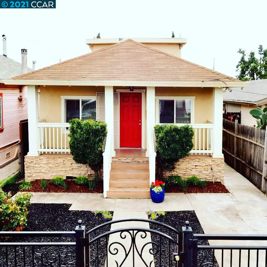 Come see this charming two-story bungalow style home! Updated with fresh interior paint and new carpet. There are 2 bedrooms /1 bath downstairs and 1 bedroom /1 bath upstairs. Separate entry allows for a potential rental or in-law quarters for upstairs bedroom. Spacious living room and family room. Kitchen has stainless steel appliances, backsplash, dishwasher. Washer and dryer hookups in hallway. The backyard is an oasis equipped with a chef grill and lounge area perfect for entertaining. Near shopping, school and transportation. Home has easy access to Coliseum, walk to BART; and HWY 880/580 and minutes away from the airport.