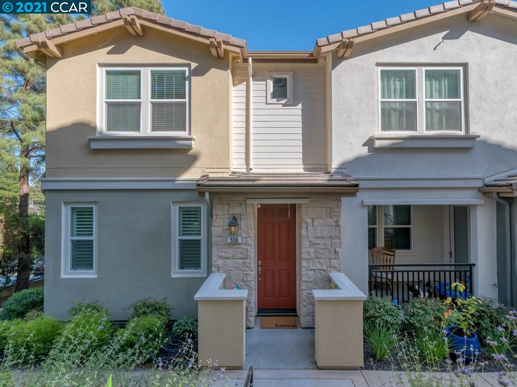 Welcome to luxury living! This 4 bed, 3.5 bath, ~1,789 sq ft, tri-level townhome-style condo boasts endless upgrades & comfortable open concept layout. Incredible light & beautiful tree coverage. Spacious kitchen w/ quartz countertops, gas cooktop, stainless steel appliances & lots of storage. Island has space to prep & dine. Unique barn door adds to open living area & custom window treatments compliment every room. Wake up to birds chirping while sipping morning coffee on the bright balcony. Upstairs: 3 bedrooms including a primary bedroom with two walk-in closets & dual vanity ensuite bathroom. Take in the morning sunrise and views of Mount Diablo. Laundry is conveniently located upstairs.  Lower Level: Includes an additional full bathroom & bedroom or office–which can be rented out separately. Attached 2 car garage is located at end of the cul-de-sac-like driveway. Quiet location, close to shopping & parks with easy freeway access; near excellent schools. Make an appointment today!
