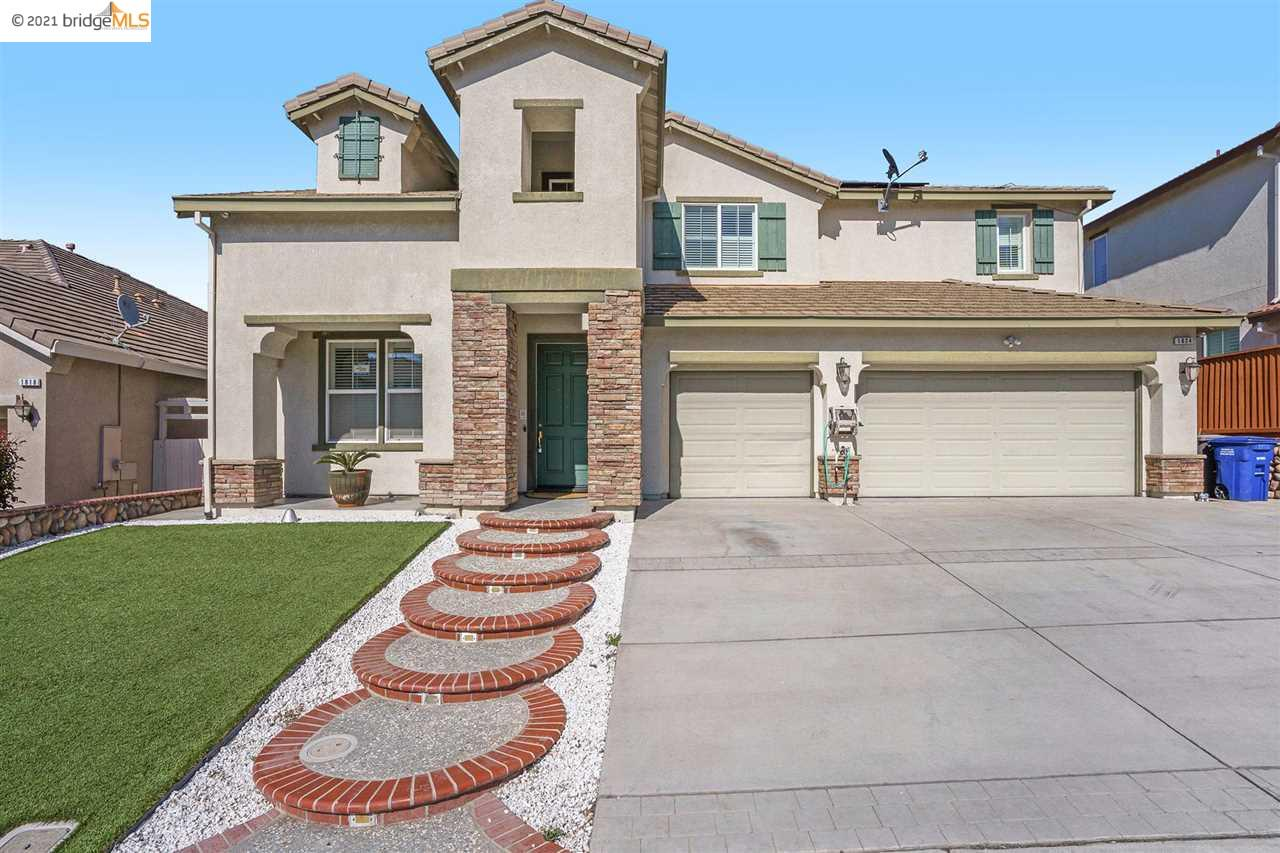 Gorgeous 5 bedroom home with 4.5 bathroom and 3 car garage.  Extended driveway.  Crown molding, stainless steel appliances, granite counters. Low maintenance yard.  Beautifully maintained TUNRKEY home.  Close to highway and BART station. Great sought after neighborhood.