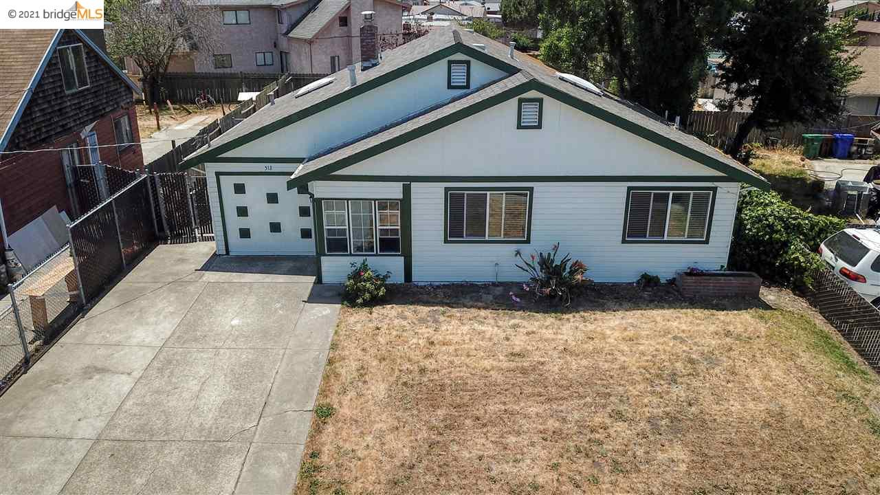 Nice sized lot on this 3 bedroom 1 bath home. Granite countertops in Kitchen,  Dual pane windows, Updated flooring, Converted garage for more space, Large leveled back yard that you can use your imagination with. Centrally located close to hwy 80, hwy 4, & San Rafael bridge.