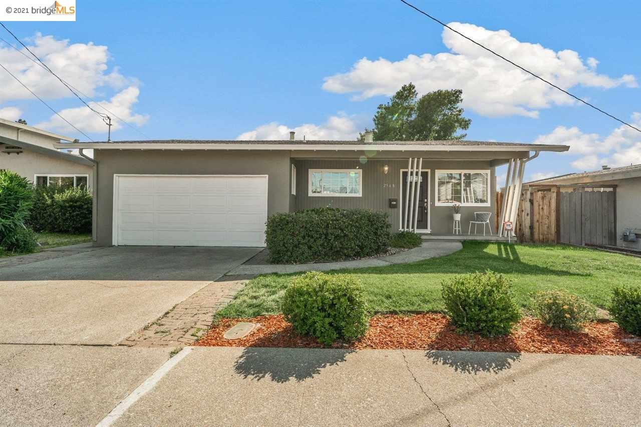 We are so excited to present this light-filled Mid-Century home just minutes from everything Old Town Pinole has to offer.  One level living with three bedrooms, an updated eat-in kitchen, beautiful hardwood floors, a large attached 2 car garage, and a spacious backyard. Imagine Summer BBQS with family and friends or enjoy some peaceful mornings or afternoons under the flowering Orange tree, which bears the sweetest fruit.  Location is everything! A quick hop onto the Interstate 80 or catch a commuter bus at the bottom of the hill with a direct line to BART. Sprouts, Trader Joe's, Starbucks, or Peet's- make your choice! Don't miss the  weekly Farmers market and be sure to check out the many Mom and Pops dining choices. In close proximity to the Bay Trail, many parks, great schools, and convenient shopping. Welcome to Pinole!