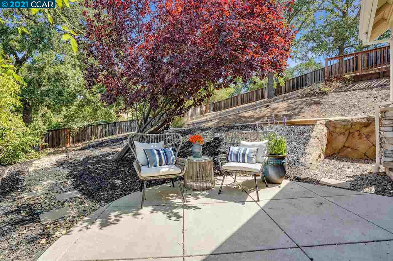 Several patios and charming setting