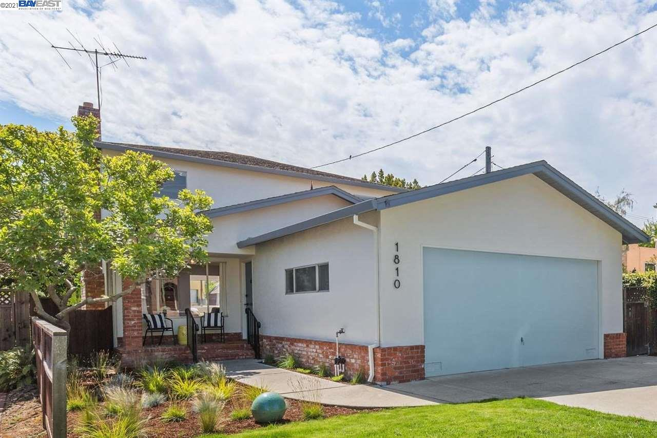 Transform this mid-century home in Alameda's coveted Fernside District.  A light filled, 3 plus bedroom, 2 ½ bath home with a 2-car attached garage that is over 1944 sq. ft. interior with a 4000 sq ft. lot designed for stylish, easy living. The entire home has been painted off-white and the plank hardwood floors have just been refinished adding to the relaxed spa-like feel of the main living space. There is a large family room, separate from the living room, off the kitchen at the back of the home with easy access through sliding glass doors to the back patio awaiting your design. Still there, is the spacious, original kitchen with a large footprint awaiting your dream design. Ahead of its time, there is a perfectly situated office off the family room that will prove to be a favorite space. The main floor also has large panty, a ½ bath and a 2-car garage with interior access. The great location of this home is hard to resist. The friendly Alameda community has much to offer.