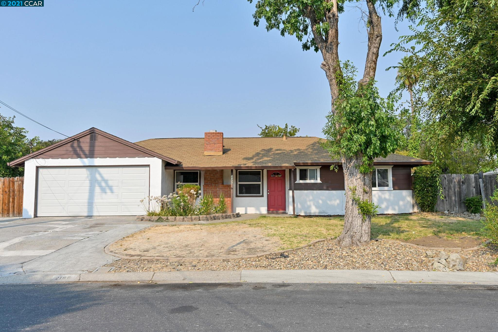 Enjoy price adjustment on this expanded California rancher on a large lot near downtown Pleasant Hill. This versatile, expanded floorpan offers a country kitchen, a Chef's dream!  Gas Whirlpool range, GE dishwasher, Oak cabinets with glass display cabinet.  Room to entertain!  Dining area and large family room. 4th bedroom can be perfect home office. 3 bedrooms include large closets, one has slider to backyard, one has mirrored closet doors, ceiling fans. Updated bathroom: tile counter, tall linen storage cabinet, shower over tub. Step out back to large covered patio seen here virtually staged; room to relax, garden, play or entertain with summer barbecues. Dual-paned windows almost throughout, central heat. Large attached garage and side-yard access for RV parking. Convenient neighborhood to walk to town, major shopping. BART and freeway access are very conveniently accessed nearby: Hgwy 680.  Open House 9/12 1:30-4pm