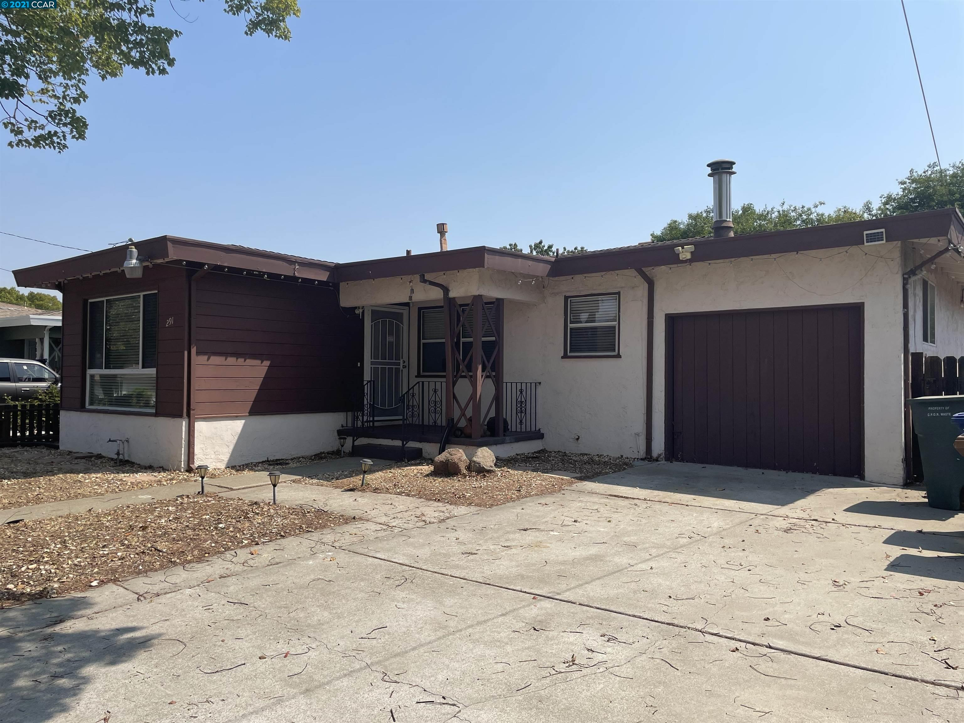 291 DiMaggio is a true gem! Move right in or upgrade the home for a brand new look and instant equity! Enjoy generously sized bedrooms including spacious bonus room, recently updated kitchen, wood floors and spacious back yard. Walking distance to BART, shopping, restaurants and more! Open house Sunday 9/12 from 2pm-4pm